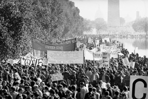 Washington DC anti-Vietnam War protests on October 21, 1967, the day that Erik was born.