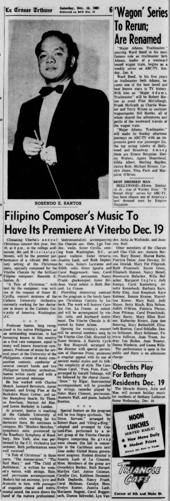 12-15-1962 La Crosse Tribune, Wisconsin