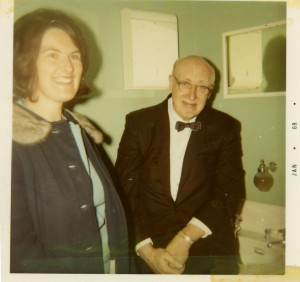 Harriet with Maestro Clifford Balshaw in 1969