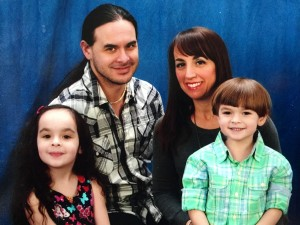Jason & Jill Santos with children Mattea and Christian in December 2014