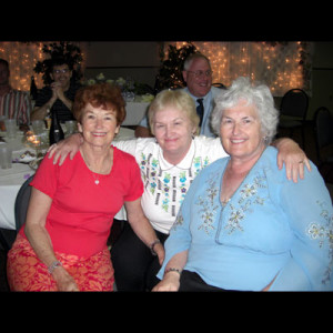 Harriet with sisters Barbara on left and Betty in the middle.