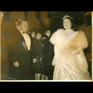 Rosendo and the Queen Mother:  a moment never to be forgotten…