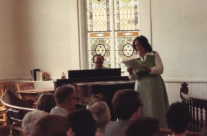 Harriet accompanied by Rosendo at Lehman UM Church in Pennsylvania
