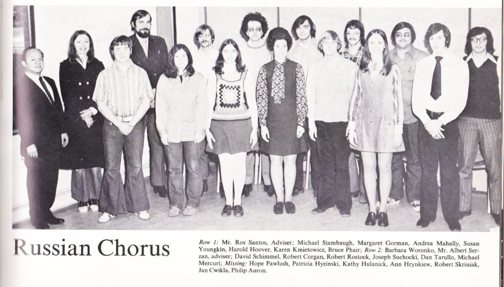Wilkes College 1973 Yearbook: Russian Chorus